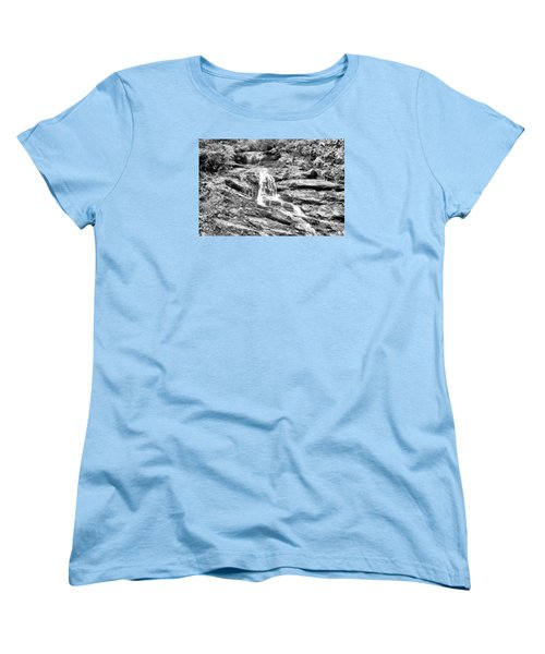 Becky Branch Falls In Black And White Women's T-Shirt (Standard Cut) by James Potts