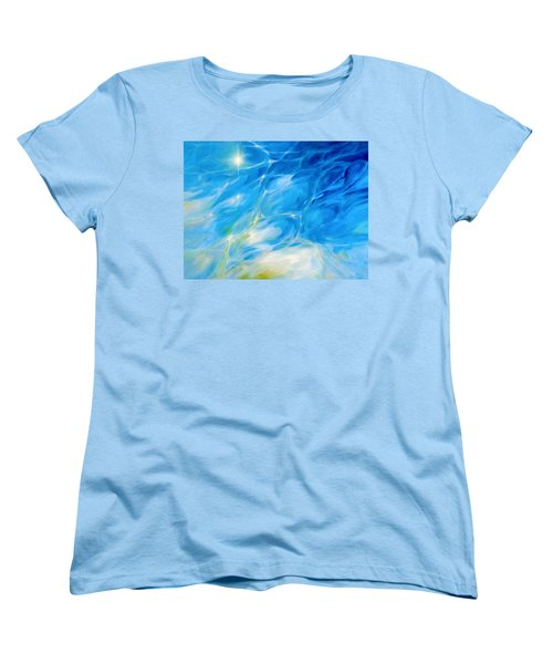 Women's T-Shirt (Standard Cut) featuring the painting Becoming Crystal Clear by Dina Dargo