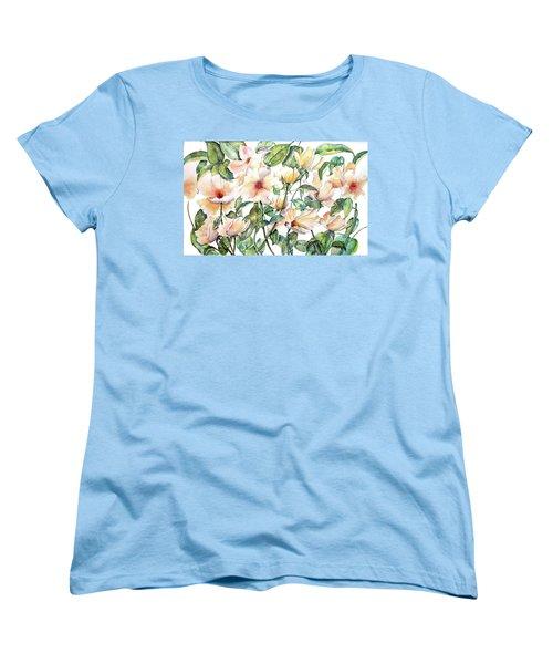 Bee Happy Women's T-Shirt (Standard Cut) by Debbie Lewis