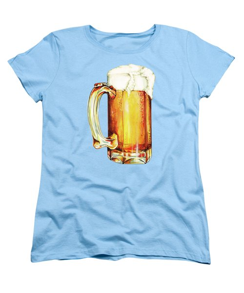 Beer Pattern Women's T-Shirt (Standard Cut) by Kelly Gilleran