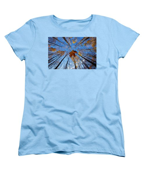 Women's T-Shirt (Standard Cut) featuring the photograph Before The First Snow by Mircea Costina Photography