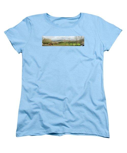 Women's T-Shirt (Standard Cut) featuring the photograph Behind The Dillard House Restaurant by Jerry Battle
