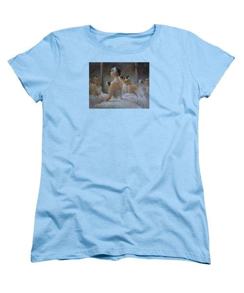 Behind The Scenes Women's T-Shirt (Standard Cut) by Vali Irina Ciobanu