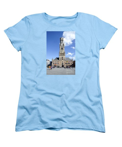 Women's T-Shirt (Standard Cut) featuring the photograph Belfry Of Bruges by Pravine Chester