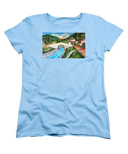 Beli Most Vranje Serbia Women's T-Shirt (Standard Cut) by Roberto Gagliardi