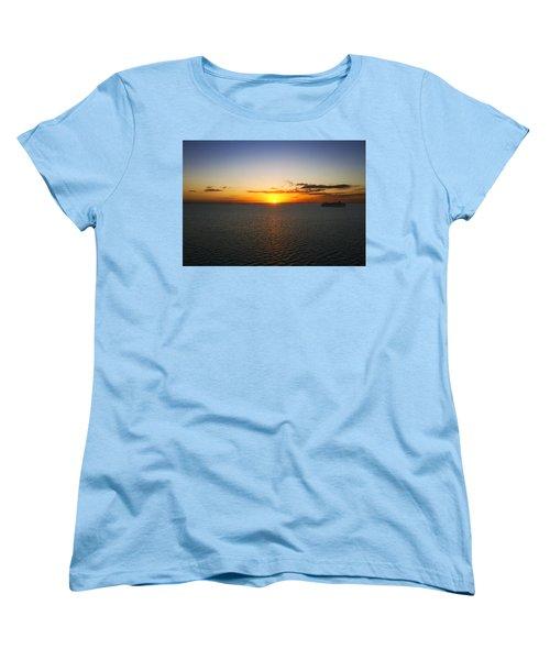 Belize Sunset Women's T-Shirt (Standard Cut) by Marlo Horne