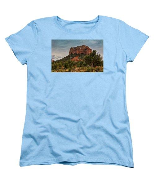 Women's T-Shirt (Standard Cut) featuring the photograph Courthouse Butte - Sedona  by Saija Lehtonen