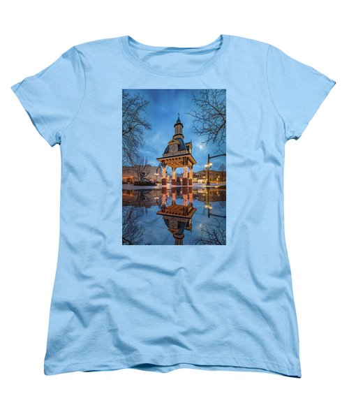 Women's T-Shirt (Standard Cut) featuring the photograph Bell Tower  In Beaver  by Emmanuel Panagiotakis