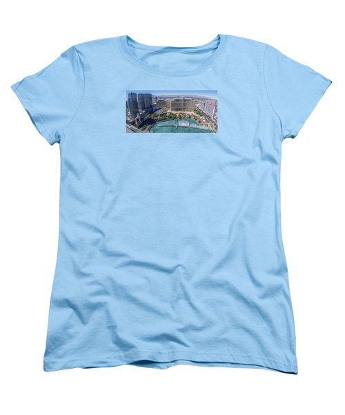 Women's T-Shirt (Standard Cut) featuring the photograph Bellagio Fountains In The Afternoon by Aloha Art