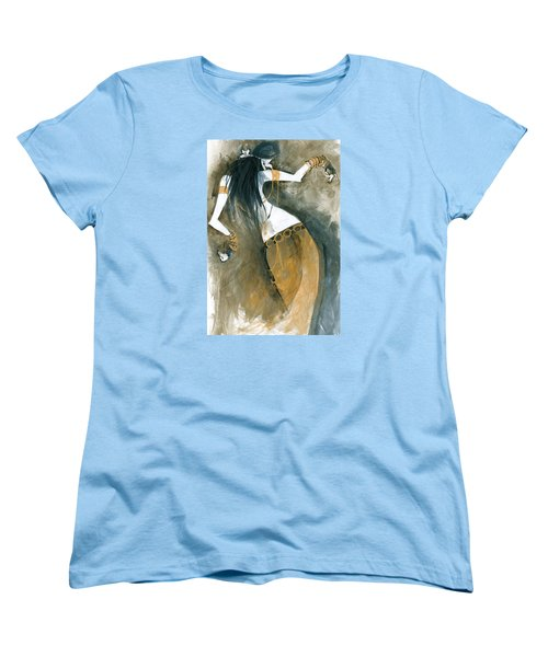 Women's T-Shirt (Standard Cut) featuring the painting Inspired By Zoe Jakes by Maya Manolova
