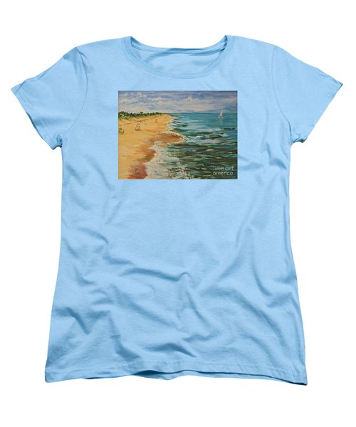 Beloved Beach - Sold Women's T-Shirt (Standard Cut) by Judith Espinoza