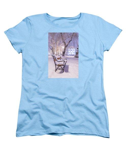 Bench Women's T-Shirt (Standard Cut) by Jaroslaw Grudzinski