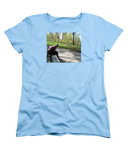 Benched Women's T-Shirt (Standard Cut) by Helen Haw