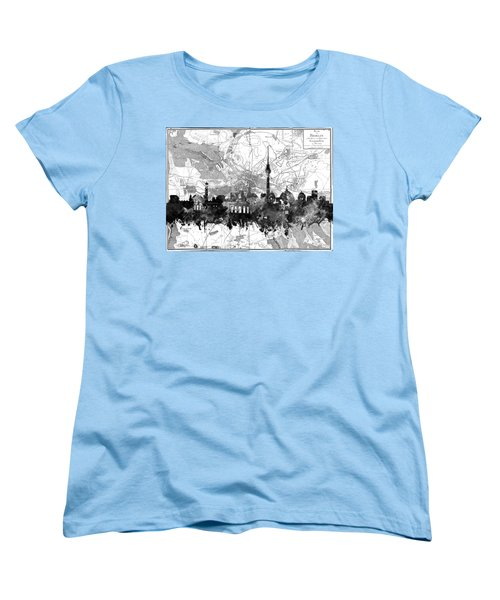 Berlin City Skyline Vintage 2 Women's T-Shirt (Standard Cut) by Bekim Art