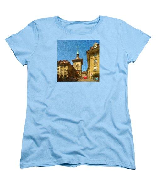 Bern Clock Tower Women's T-Shirt (Standard Cut) by Gerhardt Isringhaus