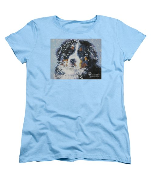 Bernese Mountain Dog Puppy Women's T-Shirt (Standard Cut) by Lee Ann Shepard