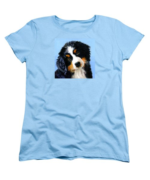 Bernese Mountain Puppy Women's T-Shirt (Standard Cut) by Alice Leggett