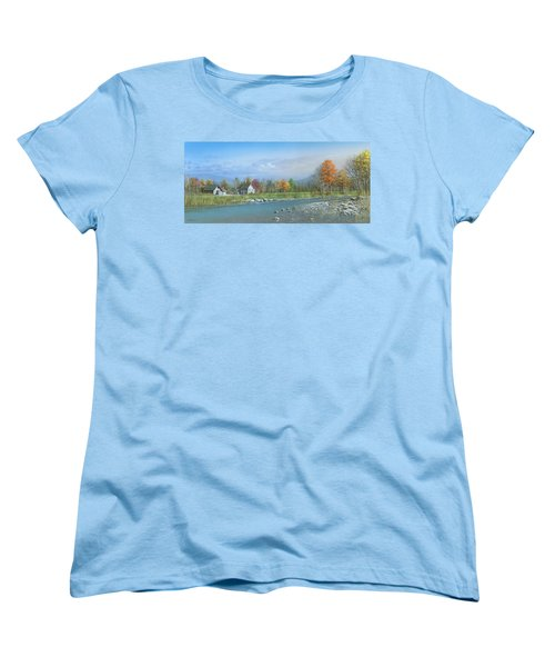 Women's T-Shirt (Standard Cut) featuring the painting Better Days by Mike Brown
