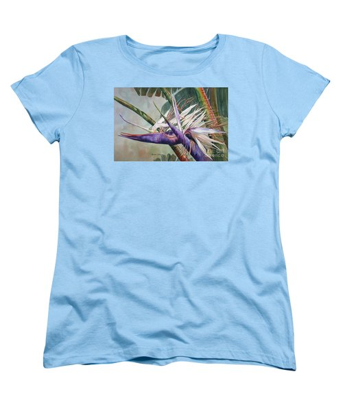 Betty's Bird - Bird Of Paradise Women's T-Shirt (Standard Cut) by Roxanne Tobaison