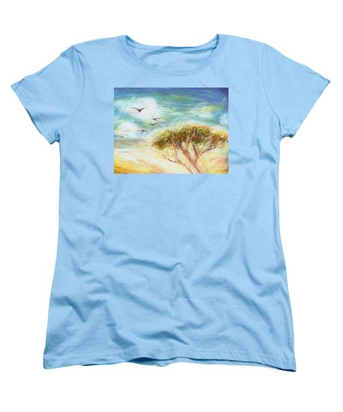 Women's T-Shirt (Standard Cut) featuring the drawing Betty's Tree by Denise Fulmer