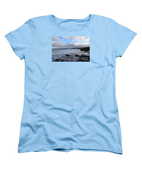 Women's T-Shirt (Standard Cut) featuring the photograph Between Cornish Storms 2 by Nicholas Burningham