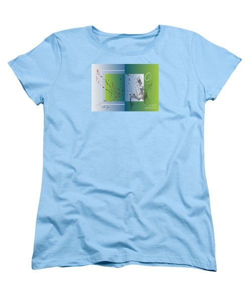 Women's T-Shirt (Standard Cut) featuring the digital art Between Heaven And Me by Leo Symon