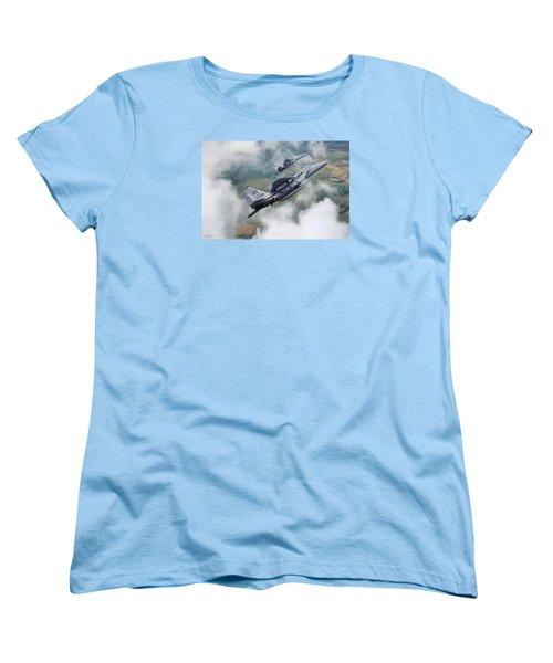 Beware Of Bulldogs Women's T-Shirt (Standard Cut) by Peter Chilelli