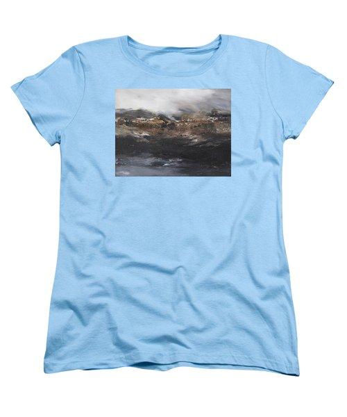 Beyond The Cliffs Women's T-Shirt (Standard Cut) by Roberta Rotunda