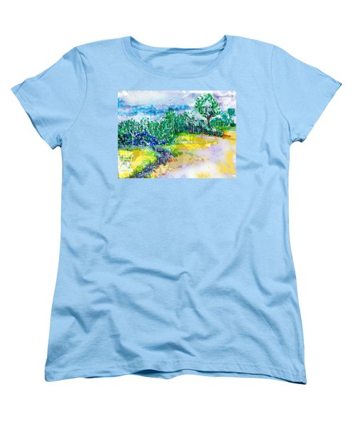 Women's T-Shirt (Standard Cut) featuring the drawing Beyond The Clouds by Seth Weaver