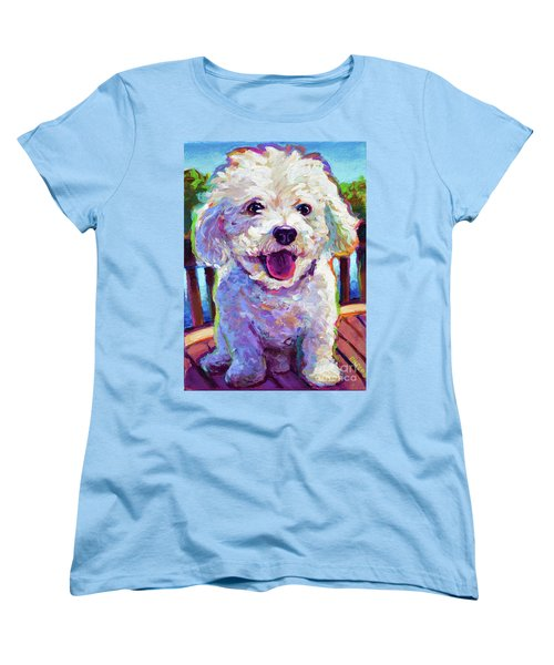 Women's T-Shirt (Standard Cut) featuring the painting Bichon Frise by Robert Phelps