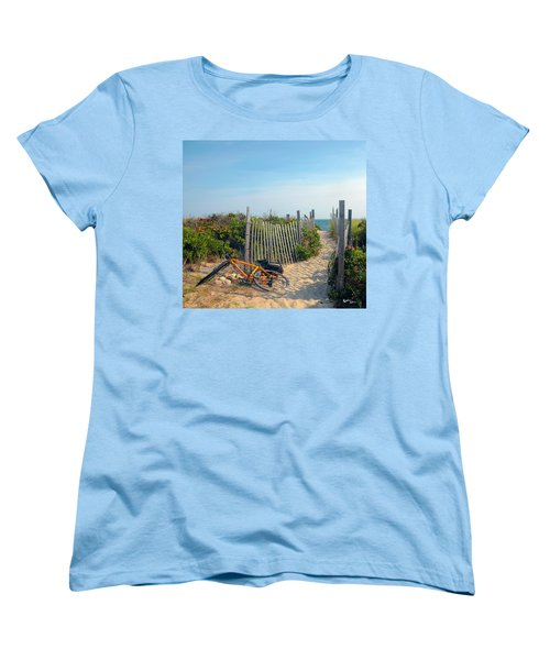 Women's T-Shirt (Standard Cut) featuring the photograph Bicycle Rest by Madeline Ellis