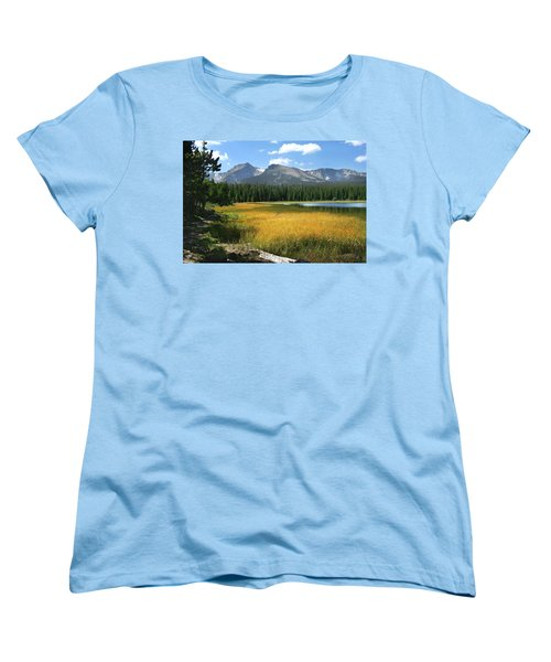 Women's T-Shirt (Standard Cut) featuring the photograph Autumn At Bierstadt Lake by David Chandler