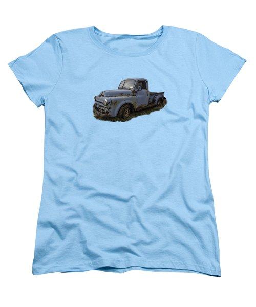 Big Blue Dodge Alone Women's T-Shirt (Standard Cut) by Debra and Dave Vanderlaan