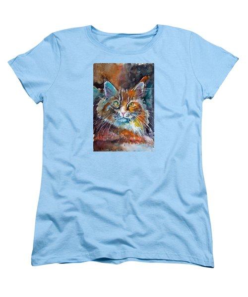 Big Cat Women's T-Shirt (Standard Cut) by Kovacs Anna Brigitta
