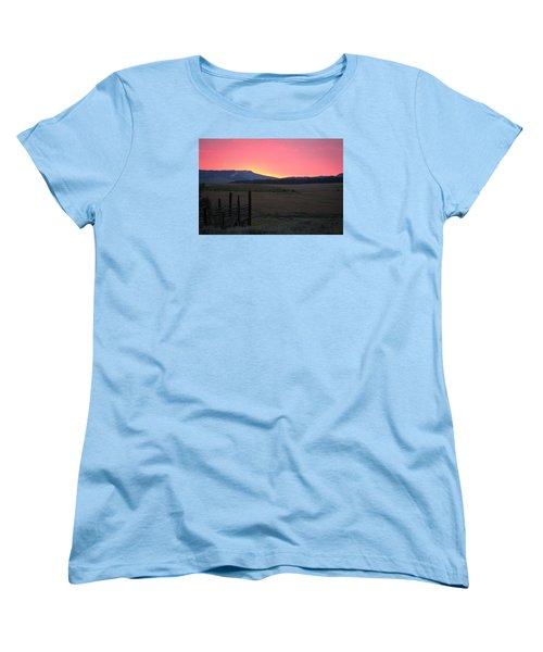 Big Horn Sunrise Women's T-Shirt (Standard Cut) by Diane Bohna