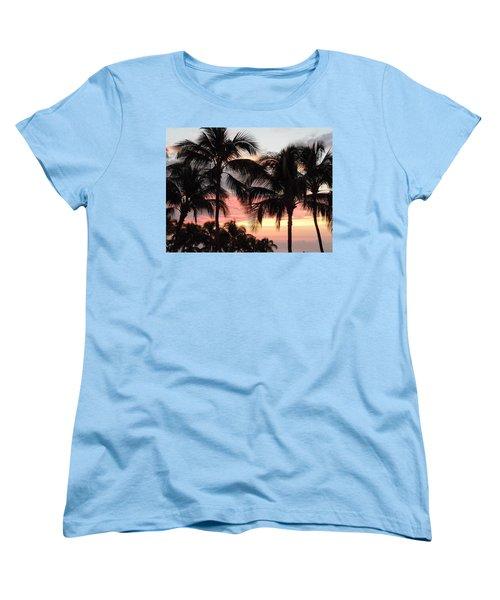 Big Island Sunset 1 Women's T-Shirt (Standard Cut) by Karen J Shine