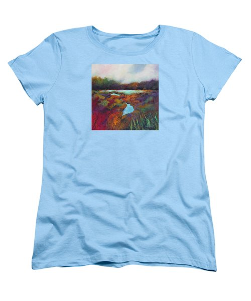 Big Pond In Fall Mc Cormick Woods Women's T-Shirt (Standard Cut) by Marti Green