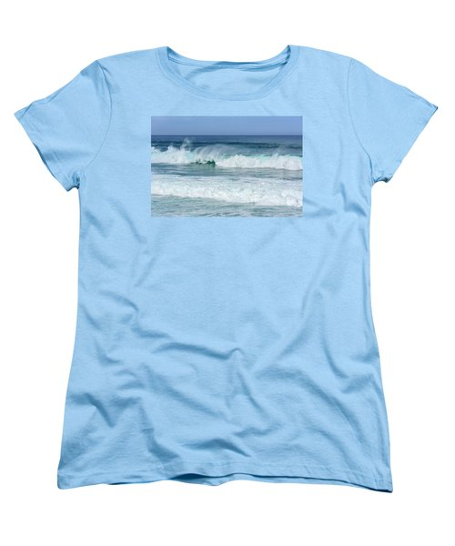 Women's T-Shirt (Standard Cut) featuring the photograph Big Waves by Marion McCristall