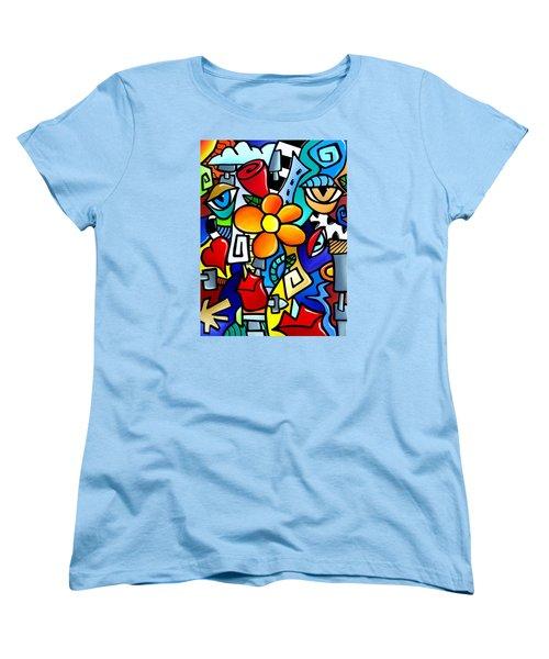 Biomechanical Love Women's T-Shirt (Standard Cut) by Tom Fedro - Fidostudio