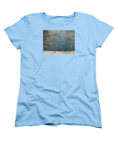 Birch Forest To The Morning Sun Women's T-Shirt (Standard Cut) by Odon Czintos