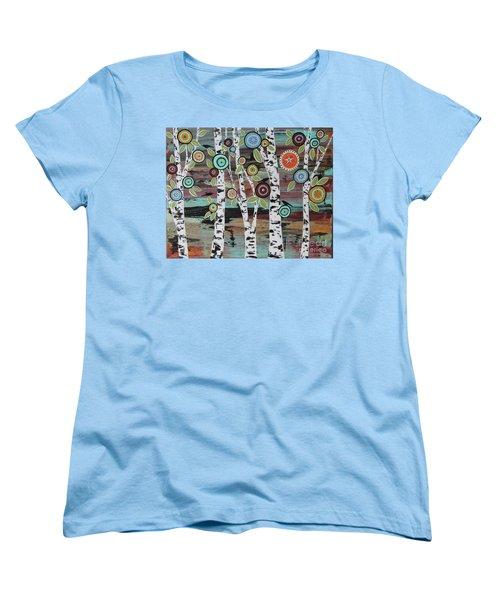 Birch Woods Women's T-Shirt (Standard Cut) by Karla Gerard