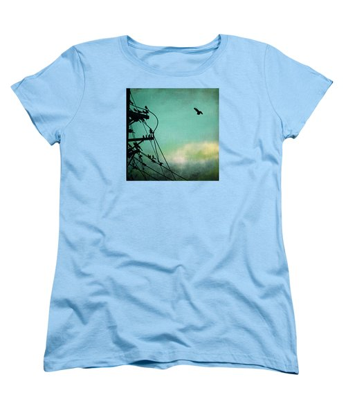 Women's T-Shirt (Standard Cut) featuring the photograph Bird City Revisited by Trish Mistric