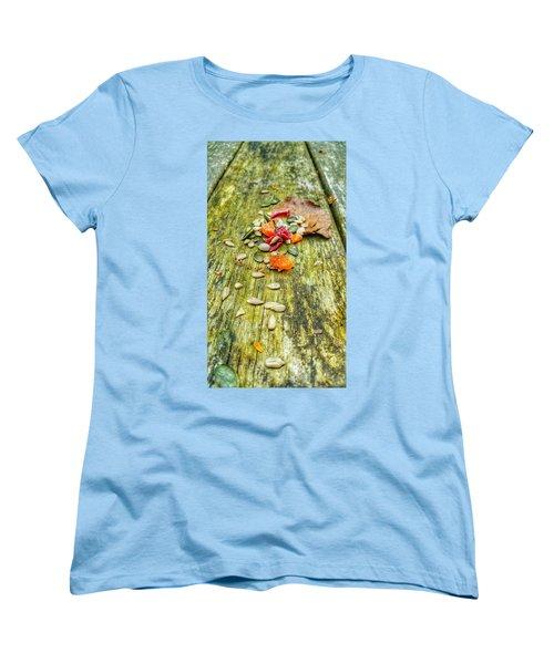 Bird Food Women's T-Shirt (Standard Cut) by Isabella F Abbie Shores FRSA