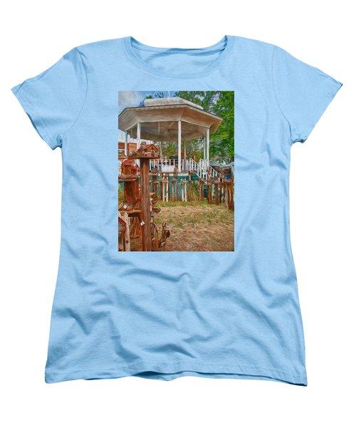Bird Houses Women's T-Shirt (Standard Cut) by Trey Foerster