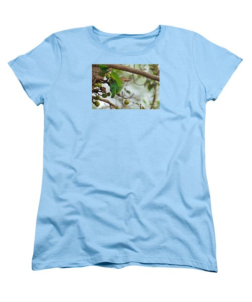 Women's T-Shirt (Standard Cut) featuring the photograph Bird In The Bush by Pravine Chester