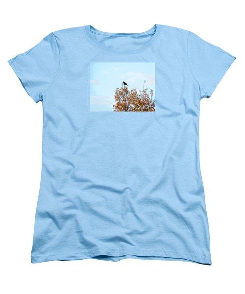 Bird On Tree Women's T-Shirt (Standard Cut) by Craig Walters