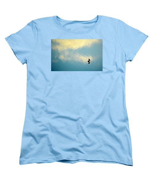 Bird Reflection Women's T-Shirt (Standard Cut) by AJ Schibig