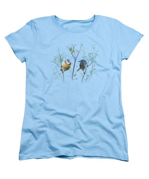 Birds In Tree Women's T-Shirt (Standard Cut) by Ivana
