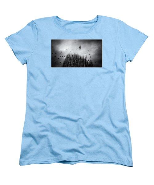 Birds Over Bush Women's T-Shirt (Standard Cut) by Peter v Quenter