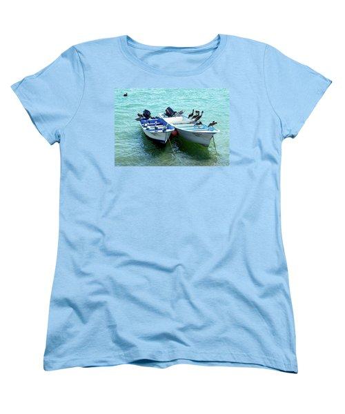 Birds Sunbathing  Women's T-Shirt (Standard Cut) by Haleh Mahbod